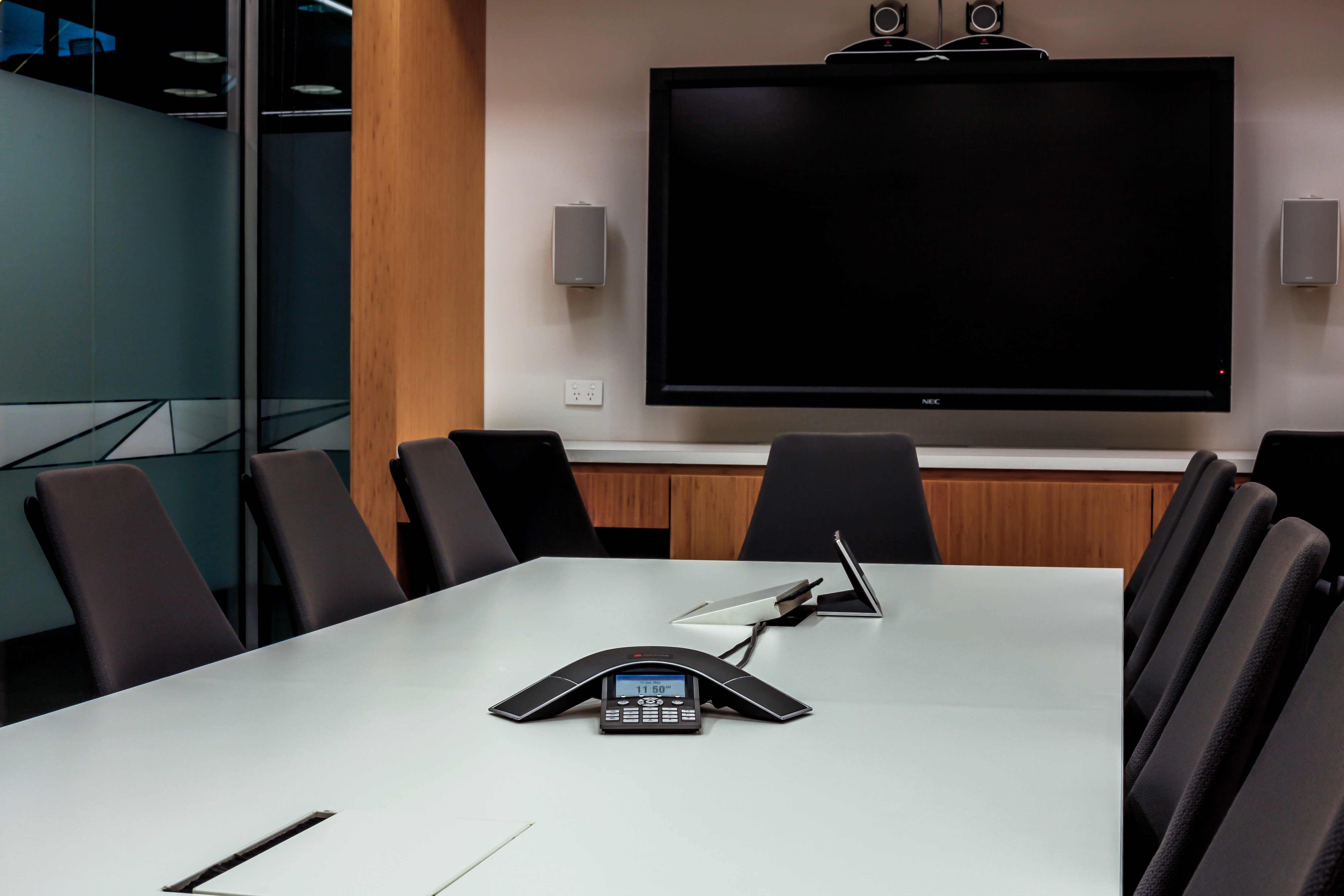Video conference equipment in board room