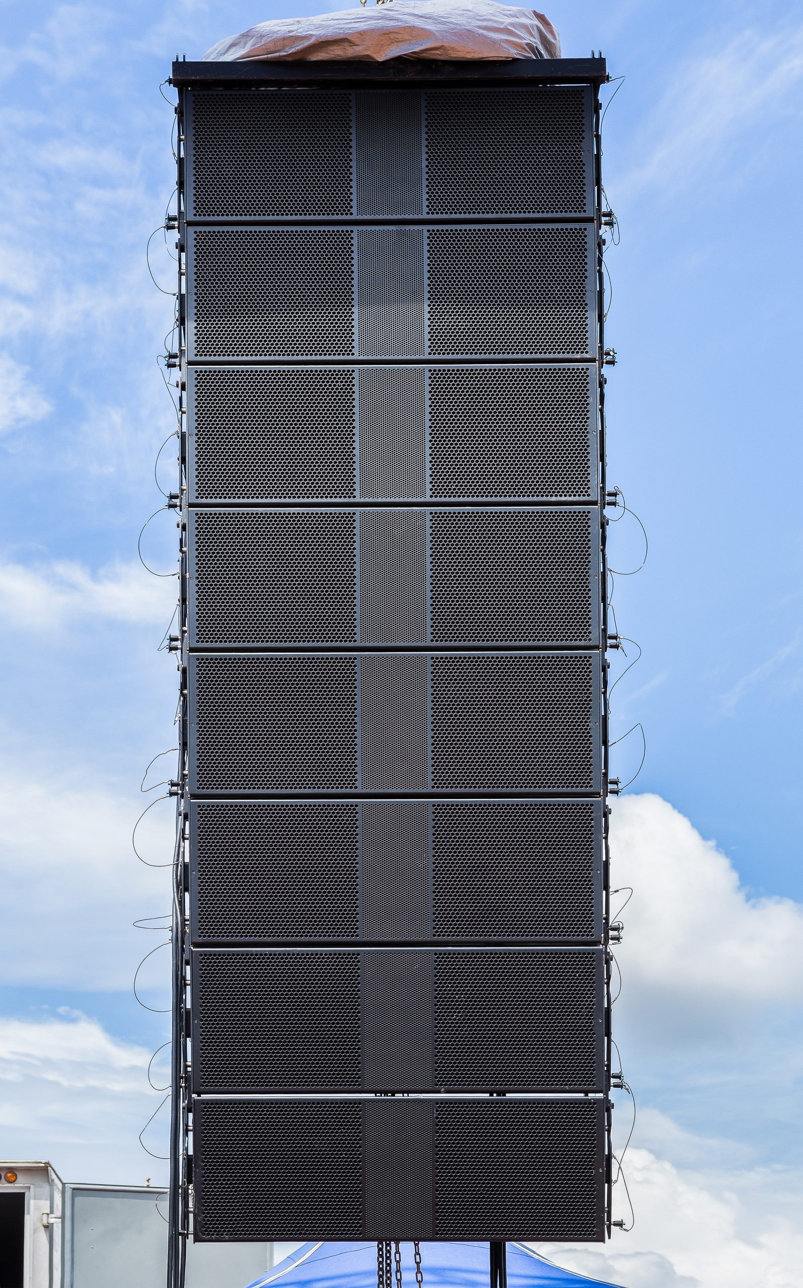 Line Array Speakers just installed by Audio Image Solutions